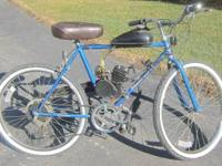Firstis a Roadmaster bike with a 2-cycle mid-mounted
