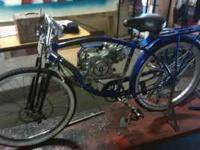 I build motorized bike here at my shop. I can build
