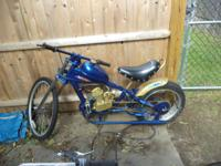 I am selling 2 motorized Schwinn choppers 80cc nice
