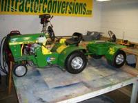 John Deere 520 pedal tractor converted into a miniature