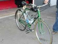 older schwin lemans pedal bike converted into motorized