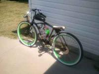 This is an Awesome 60's Monark that has a 66cc engine
