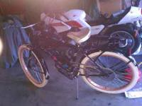 "I have a motorized black 26"" huffy. Comes with a 80cc"