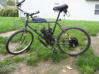 I HAVE A MOTORIZED BICYCLE FOR SALE 300 IF INTERESTED