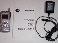 AT&T Motorola C331 Cell Phone w/ Wall Charger, Manual