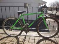 Neon green Nishiki bike. 21spd needs rear tube. If