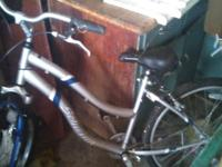 Grey ladies bike only rode it 2 times bike tire needs