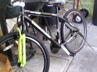 29 inch yellow black and white mountain bike good