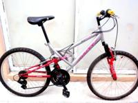 "MOUNTAIN BIKE, DOUBLE SUSPENSION, 24"", LADY. Huffy"