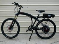 FOLDING ELECTRIC MOUNTAIN BIKE PHANTOM X2 By PRODECO