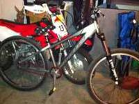 This is a 26inch single speed KHS dirt jumper or trail