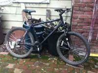Motobecane trail-tuned mountain bike with front