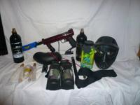 TIPPMANN 98 CUSTOM PAINT MAKER WITH A LOT OF EXTRAS THE