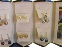 New Bay Studio 6-Pc with Mirror Pearl Drop Earrings