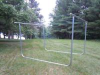 Moveable U shaped clotheslines. Easy to move when