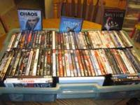 Movies for sale. $2 each all 101 titles for $101.00