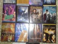 ALL ORIGINAL and in good condition. 10 DVD movies and 3