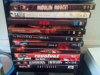 I have moives for sales.  saw 2 and 3,Moulin Rouge,