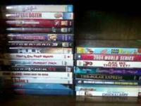 Here, I have twenty one movies for sale, they're all in