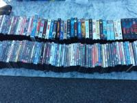 Over 100 dvd's and over 30 vhs. Selling as a lot.