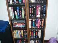 For sale are a collection of vhs movies with the