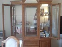 For sale is a perfect condition china cabinet hutch