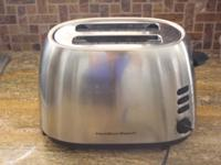 Moving sale!! Hamilton Beach toaster, special bagel &