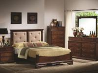 Brand New 5pc Bedroom Set solid wood includes Head