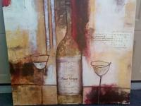 Beautiful Wine Canvas Picture. Includes a authenticity