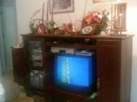 Moving! Only $20! Entertainment Center Cabinet - Dark