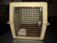 """Moving Sale: Pet Travel Crate - $15 obo 25"""" length, 21"""""""