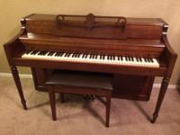 "Moving Sale - ""Janssen Upright Piano with Light"", good"
