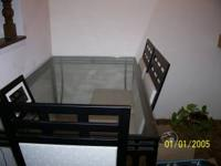 Moving Sale: For Sale: Glass-top Dinning table and four
