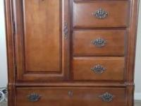 Gorgeous french provincial solid wood wardrobe chest.