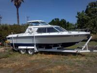 1973 24 foot Reinell 250 Hard Top Off Shore with a