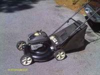 i have an easy start yard machine o=bagged mower for