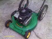 i have an easy start weedeater push mower for sale 85