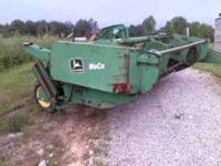 Mower Conditioner 720 John Deere nine foot cut has hyd