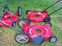 like new push mower decks, big wheel and regulars size