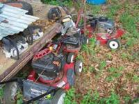 3 chainsaws 2 push mowers ryobi trimmer bs edger all