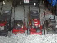 I have several mowers for sale Basic mowers from $60