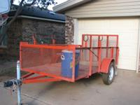 5 x 10 MOWING TRAILER, REAR ENTRY WITH RAMP, 2