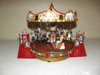 Mr Christmas Musical Carousel  Plays 30 songs, 15