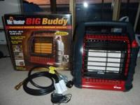 Propane Heater, 3 heat settings, 4000,9000,18000 btu.