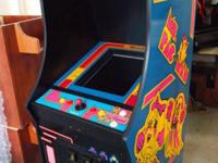 This is a brand new Ms Pac-man cabinet ,made in USA