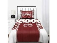 This is a twin bedding set full with a comforter,