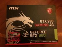 Selling my 4 month old GTX 980 that works great and