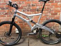 Large Marin full suspension mountain bike, 4 inches of