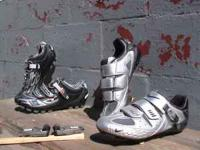 mtb shoes are gaerne road bike shoes are nike. Both are