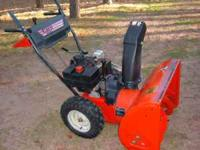 MTD 826 Snowblower 8hp Tecumseh Engine with Electric